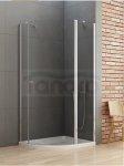 New Trendy - Kabina prysznicowa asymetryczna pojedyncze drzwi uchylne NEW SOLEO / Linia Gold