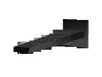 VEDO - wylewka SETTE NERO ścienna VBS7033CZ