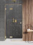 NEW TRENDY Drzwi prysznicowe wnękowe AVEXA GOLD SHINE Linia Platinium 120x200cm