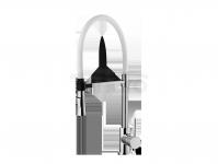 FROMAC - Bateria zlewozmywakowa kuchenna B-BIANCA biała/chrom  8086B/CH-BI