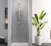 NEW TRENDY - Drzwi prysznicowe wnękowe uchylne 80cm D-0330ASUPERIA