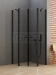 NEW TRENDY Kabina prysznicowa pięciokątna NEW SOLEO BLACK 90x90x195 K-0617