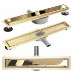 REA - Odpływ liniowy Rea Pure Neo Mirror Gold Pro / Złoty Lustrzany 800mm