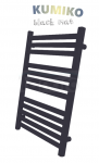 GAMABIK - Grzejnik łazienkowy KUMIKO 950/540 CZARNY MAT moc 429W