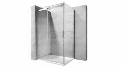 REA - Kabina NIXON - 2 prostokątna EASY CLEAN PREMIUM / drzwi 140 + ścianka 90 /