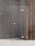 NEW TRENDY Kabina prysznicowa podwójne drzwi uchylne AVEXA GOLD SHINE Linia Platinium 80x100x200 EXK-1694