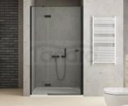 NEW TRENDY Drzwi wnękowe prysznicowe REFLEXA BLACK 130x200 EXK-1330 POLSKA PRODUKCJA