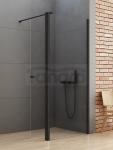 NEW TRENDY Kabina ścianka prysznicowa z ruchomymi drzwiami NEW SOLEO BLACK linia gold 90x34x195 K-0781