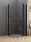 NEW TRENDY Kabina prysznicowa NEW SOLEO BLACK z podwójnymi drzwiami otwieranymi na zewnątrz i do wewnątrz 120x120x195 K-0558