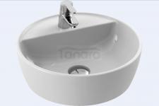 CeraStyle - Umywalka ceramiczna nablatowa ONE OKRĄGŁA z otworem na baterię