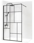 REA - Ścianka prysznicowa BLER-2 black/czarna