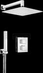 DEANTE - Zestaw BOX Chrom podtynkowy termostatyczny kwadratowy  BXYZ0EAT