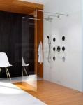 CLUSI - Ścianka kabina WALK-IN HERA szkło transparent z powłoką CLEAN GLASS
