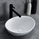 REA Umywalka ceramiczna nablatowa SOFIA MINI Biała 34X27cm