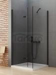 NEW TRENDY Kabina prysznicowa składana NEW SOLEO BLACK 100x80x195