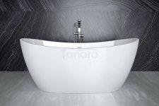 BESCO Wanna wolnostojąca akrylowa owalna biała AYLA 170x80 PL PRODUKCJA