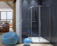 SKIENDI - Kabina kwadratowa z drzwiami dwuczęściowymi rozsuwanymi LONDON KDD