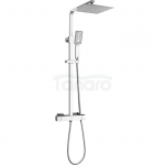LAVEO - Zestaw prysznicowy z baterią termostatyczną KVADRATO PLQ_00TD