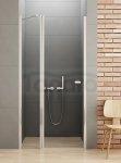 New Trendy - Drzwi prysznicowe pojedyncze uchylne NEW SOLEO z oddzielną ścianką stałą / Linia Gold