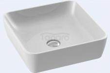 CeraStyle - Umywalka ceramiczna nablatowa ONE KWADRATOWA bez otworu na baterie