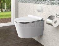 REA - Miska WC wisząca PORTER Rimless + deska wolnoopadająca DUROPLAST SLIM