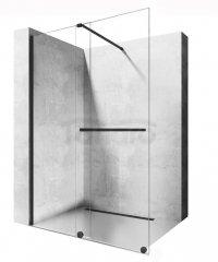 REA Ścianka prysznicowa WALK-IN przesuwna CORTIS BLACK 120cm