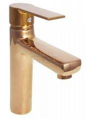 BW-TECH Bateria umywalkowa stojąca różowe złoto/imitacja miedzi TALIA