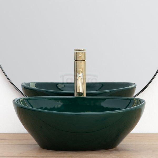 REA - Umywalka ceramiczna nablatowa SOFIA GREEN