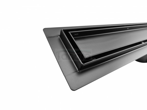 BW-TECH - Odpływ liniowy posadzkowy czarny/black 2w1 pod płytkę Rozmiary 50cm-120cm