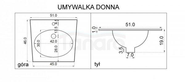REA - Umywalka Donna 55