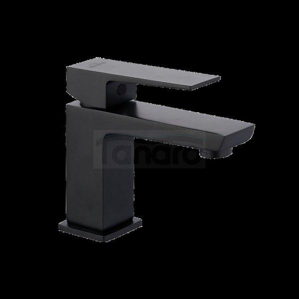 INVENA Bateria umywalkowa czarna PAROS z korkiem klik-klak BU-09-004-A
