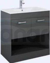 ELITA - Zestaw szafka ZEN 80 2D Anthracite + Umywalka KYRA 81
