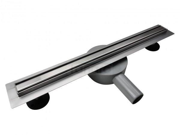 AQUALine - Odpływ liniowy podłogowy SLIM kwadrat chrom Obrotowy syfon ROZMIARY 50-120cm RSK01
