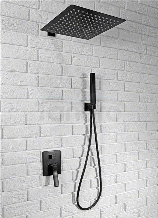 ZESTAW - Kabina prysznicowa FARGO 80X100 + zestaw prysznicowy czarny BRAVO + Odpływ liniowy CZARNY 80 cm