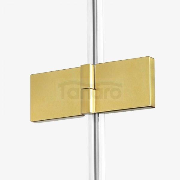 NEW TRENDY - Kabina prysznicowa kwartowa podwójne drzwi uchylne AVEXA GOLD EXK-1791 Złote Profile 120x120x200 LINIA PLATINIUM