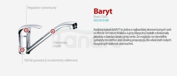 ARMATURA KRAKÓW - BARYT bateria wannowa ścienna 554-010-00