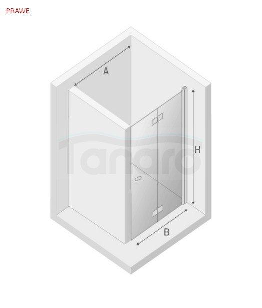 New Trendy - Drzwi prysznicowe składane NEW SOLEO / Linia Gold Rozmiary 70-120cm