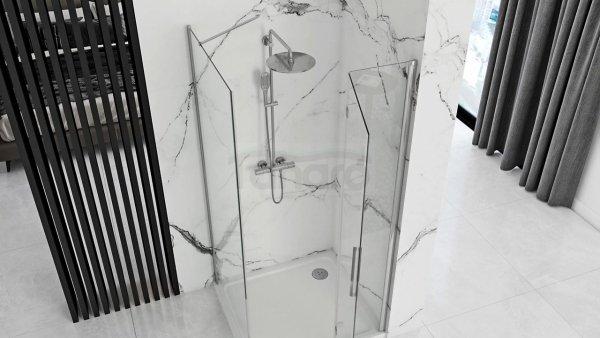 REA Kabina prysznicowa drzwi składane MOLIER CHROM 100x80