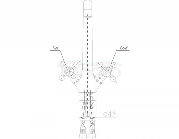 ARMATURA KRAKÓW - Retro Classic bateria zlewozmywakowa stojąca 383-925-00