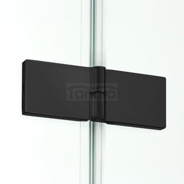 NEW TRENDY - Kabina prostokątna New Renoma BLACK 120x90x195  D-0208A/D-0111B  PRAWA
