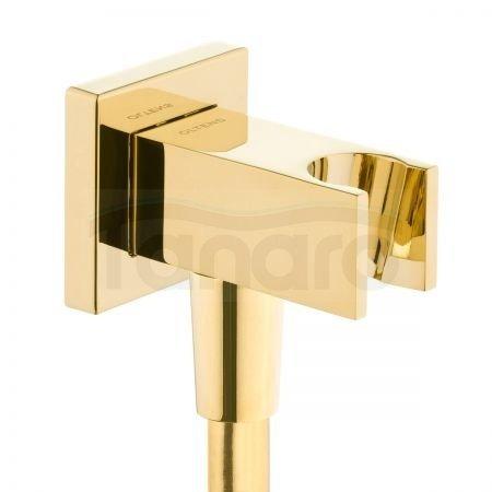 OLTENS Hvita (S) przyłącze kątowe z uchwytem kwadratowe złoty połysk 39303800