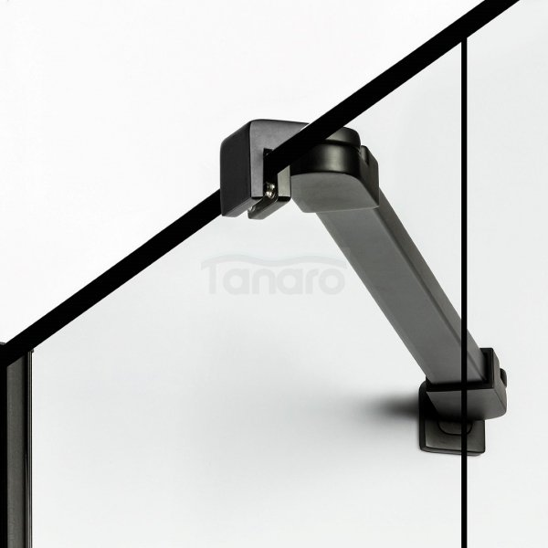 NEW TRENDY - Kabina kwadratowa New Soleo BLACK 90x90x195  D-0289A/D-0120B  LEWA
