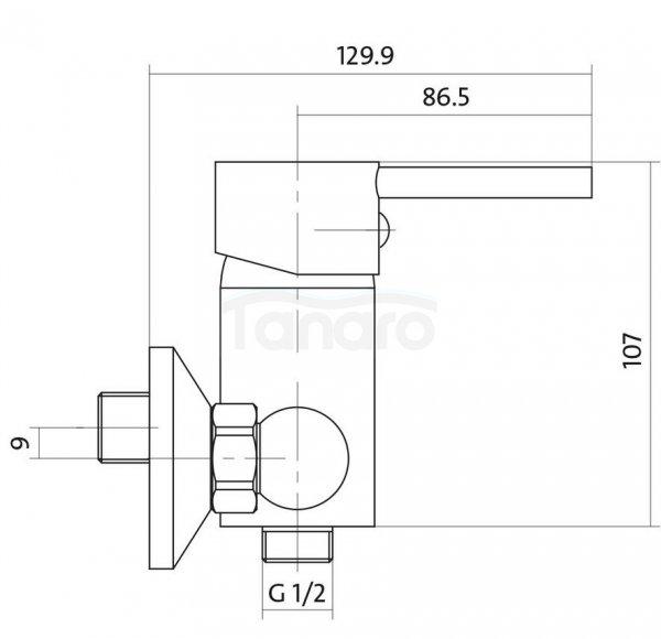 CERSANIT - Bateria natryskowa ścienna SIMI Basic S951-025