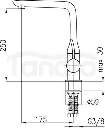 ARMATURA KRAKÓW - Malachit Bateria jednouchwytowa, zlewozmywakowa 4403-915-00