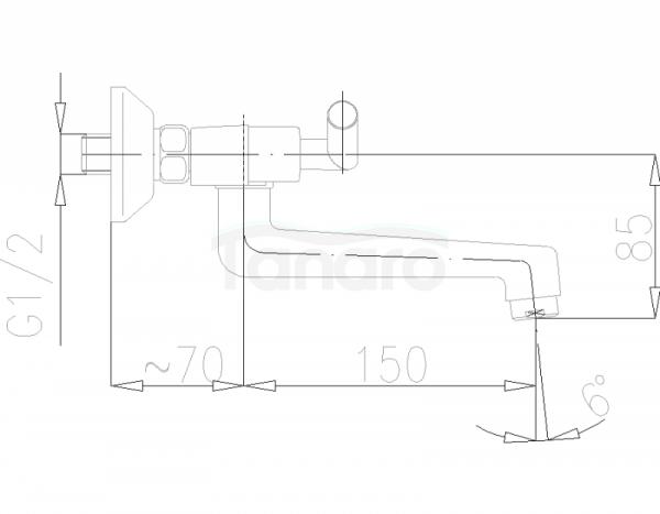 ARMATURA KRAKÓW - Harmonic Bateria umywalkowa ścienna 340-820-00