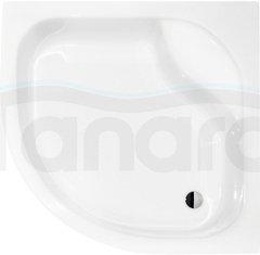 PIRAMIDA - Brodzik akrylowy głęboki z siedziskiem DIPER1 80x80 / 90x90