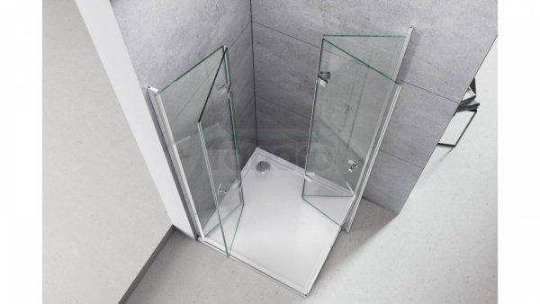 REA - Kabina prysznicowa DOUBLE BEST 80x100 (drzwi+drzwi)