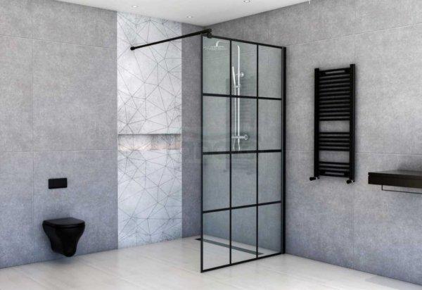 Sea Horse -  Easy IN Nero kabina prysznicowa czarna/black typu walk-in 90 x 200 BK251T09A6