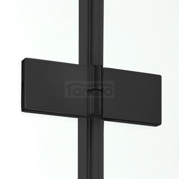 NEW TRENDY - Kabina kwadratowa New Soleo BLACK 90x90x195  D-0290A/D-0121B  PRAWA