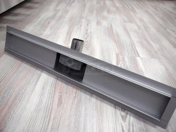 AQUALine - Odpływ liniowy podłogowy BĄBLE niski z metalowym syfonem Rozmiar do wyboru 50 do 110cm L02